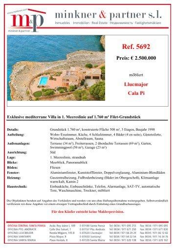 Ref. 5692 Llucmajor Cala Pi Preis: € 2.900.000