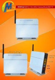 "MSW41p4 v2.5 4 Port ADSL2+ Gateway/Router/WiFi ""N"""