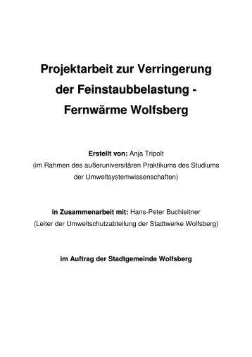 Fernwärme Wolfsberg Erstellt von - Stadt Wolfsberg
