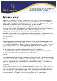 Babyschwimmen - Dr. Peter Voitl