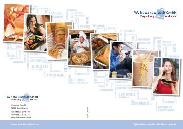 www.nowakowitsch.de Spezialkatalog für die Gastronomie