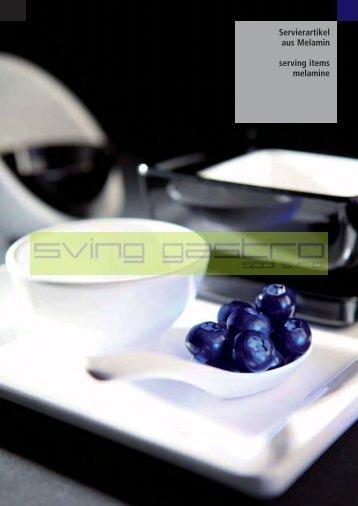 Servierartikel aus Melamin serving items melamine - svinggastro
