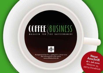 Neue Anschrift - Coffee Business