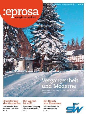 Vergangenheit und Moderne - Stadtwerke Schwarzenberg GmbH
