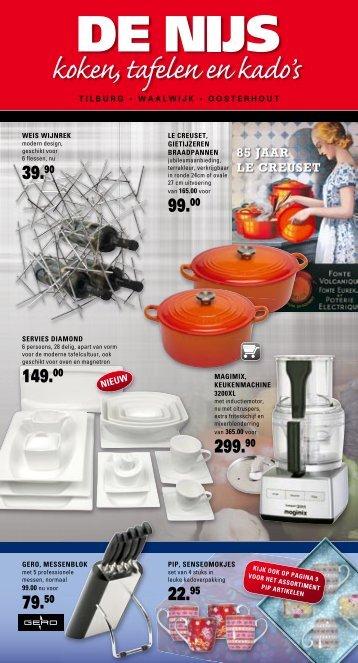 85 JAAR LE CREUSET - De Nijs koken, tafelen en kado's