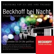 Einladung - BECKHOFF Technik und Design