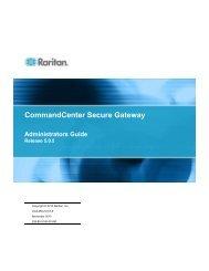 CommandCenter Secure Gateway Administrators Guide - Raritan