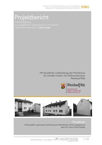 Projektbericht Projektbegleitung zur energetischen Sanierung eines ...