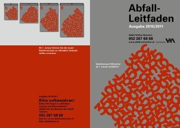Abfall- Leitfaden Ausgabe 2010/2011 - Winterthur