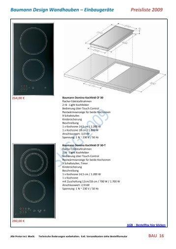 Baumann Design Wandhauben – Einbaugeräte ... - Metal Solutions