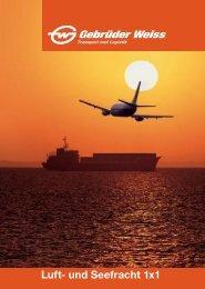 Luft- und Seefracht 1x1 - Gebrüder Weiss