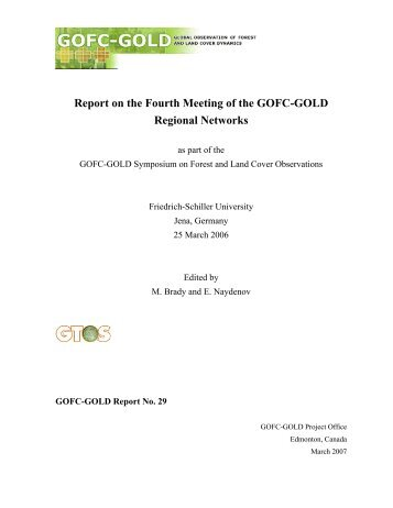 Report on the Fourth Meeting of the GOFC-GOLD Regional Networks