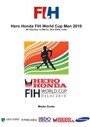 Hero Honda FIH World Cup Men 2010 - Hockey Australia