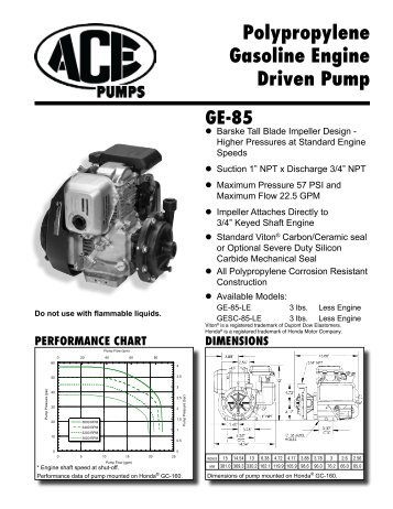 GE-660 High Performance Gas Engine Driven Centrifugal Pump