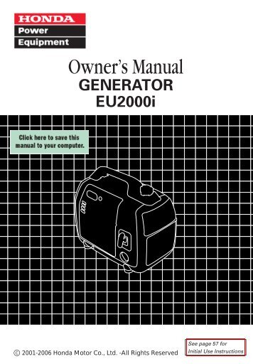 Owner's Manual - Honda Power Equipment