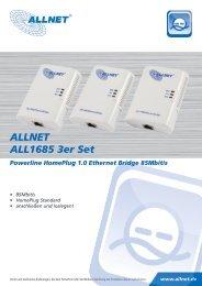 Powerline HomePlug 1.0 Ethernet Bridge 85Mbit/s