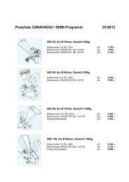 Preisliste CARAVAGGI / SEMI-Programm 01/2012 - Fim AG