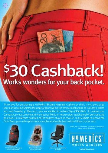 30 Cashback!