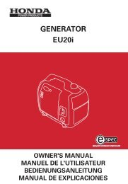 Honda EU20i Generator Owner's Manual - Young's Boat Yard
