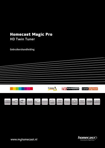 Handleiding Homecast Magic Pro (PDF)