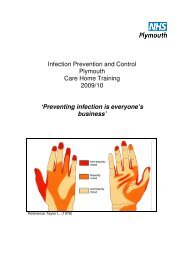 Infection Prevention and Control Plymouth Care Home Training ...