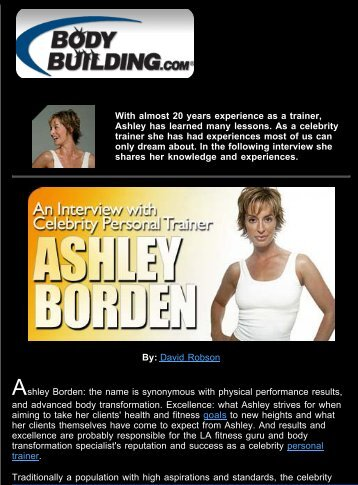 With almost 20 years experience as a trainer ... - Ashley Borden