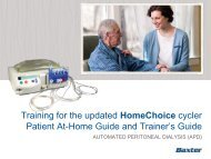 Training for the updated HomeChoice cycler Patient At-Home Guide ...