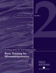 Basic Training for Microentrepreneurs - field