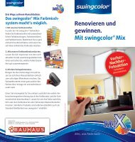 Renovieren und gewinnen. Mit swingcolor® Mix Vorher - Bauhaus