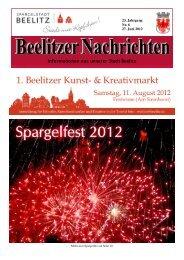 Informationen aus unserer Stadt Beelitz - Spargelstadt Beelitz
