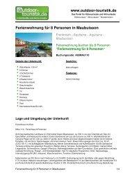 Ferienwohnung für 8 Personen in Maubuisson - Outdoor-Touristik