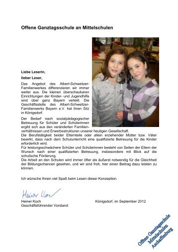 Offene Ganztagsschule an Mittelschulen - Albert-Schweitzer ...