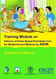 Training Module on - National Institute of health and family welfare