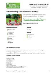 Ferienwohnung für 4 Personen in Woldegk - Outdoor-Touristik