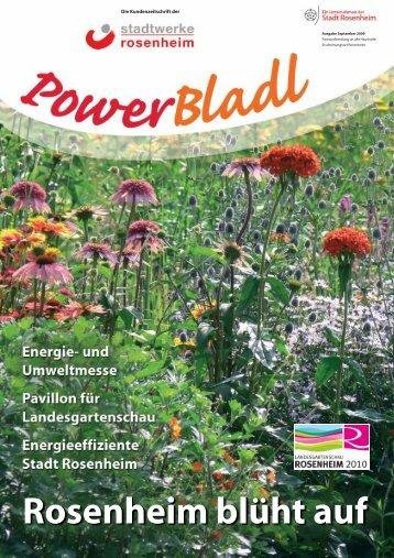 POWERbladl 26 - Ausgabe September 2009 - Stadtwerke Rosenheim