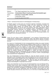 Referat Regierungspräsident Hans-Jürg Käser - Kanton Bern
