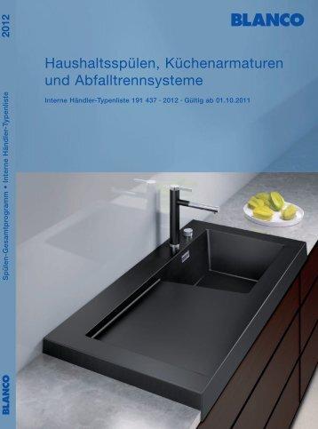 Haushaltsspülen, Küchenarmaturen und ... - Index of - Blanco