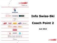 Info Swiss Ski Coach Point 2 (Juni 201 - BOSV