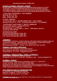 Aktualisiertes Programm ab März 2010 EUTONIE G. ALEXANDER ...