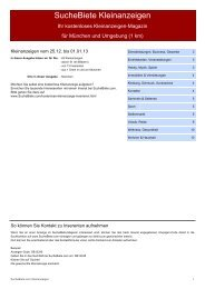 SucheBiete Kleinanzeigenzeitung München - Kostenlose ...