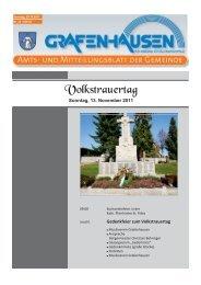 Volkstrauertag - Gemeinde Grafenhausen