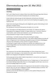Beilage Protokoll 10.05.2012 - Elternrat im Isengrind