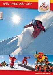 iNfos + PrEisE 2012 – 2013 - Skischule Fiss Ladis