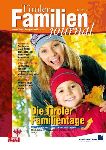 Journal 3/12 - Tirol - Familienpass