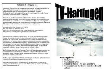 Kursangebote: - Turnverein Haltingen