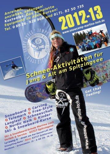 Kinder-Kurse - Snowboardschule Martina Loch