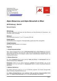 Erhebung: Reiseversicherungen 2000 - Arbeiterkammer Wien
