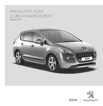 PREISLISTE ZUM ZUBEHÖRPROSPEKT - Service - Peugeot