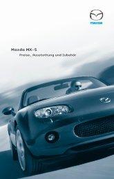 Zubehör Mazda MX-5 - Die Delta Garage Wädenswil AG