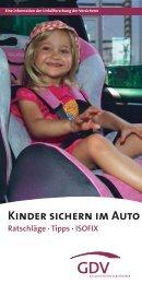 Kinder sichern im Auto - Versicherung und Verkehr